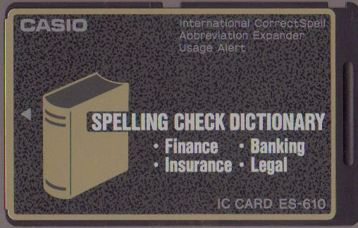 ES-610 — Spelling Check Dictionary (• Finance • Insurance • Banking • Legal)