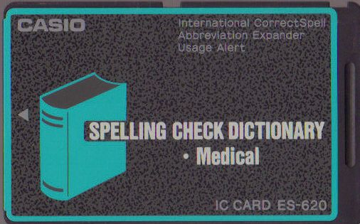 ES-620 — Spelling Check Dictionary (• Medical)