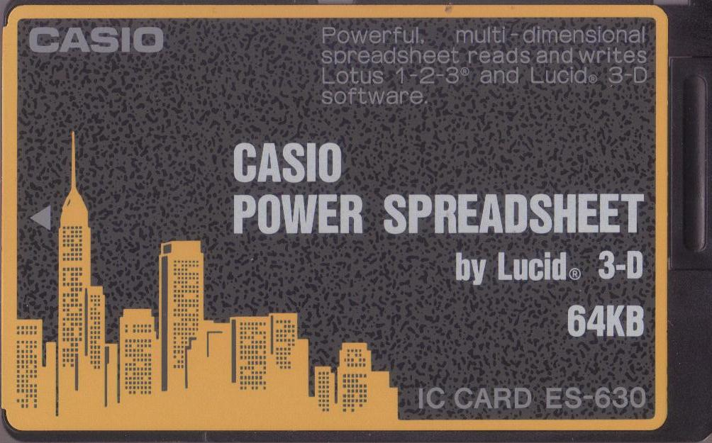 ES-630 — Casio Power Spreadsheet