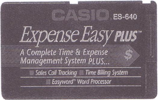 ES-640 — Expense Easy PLUS