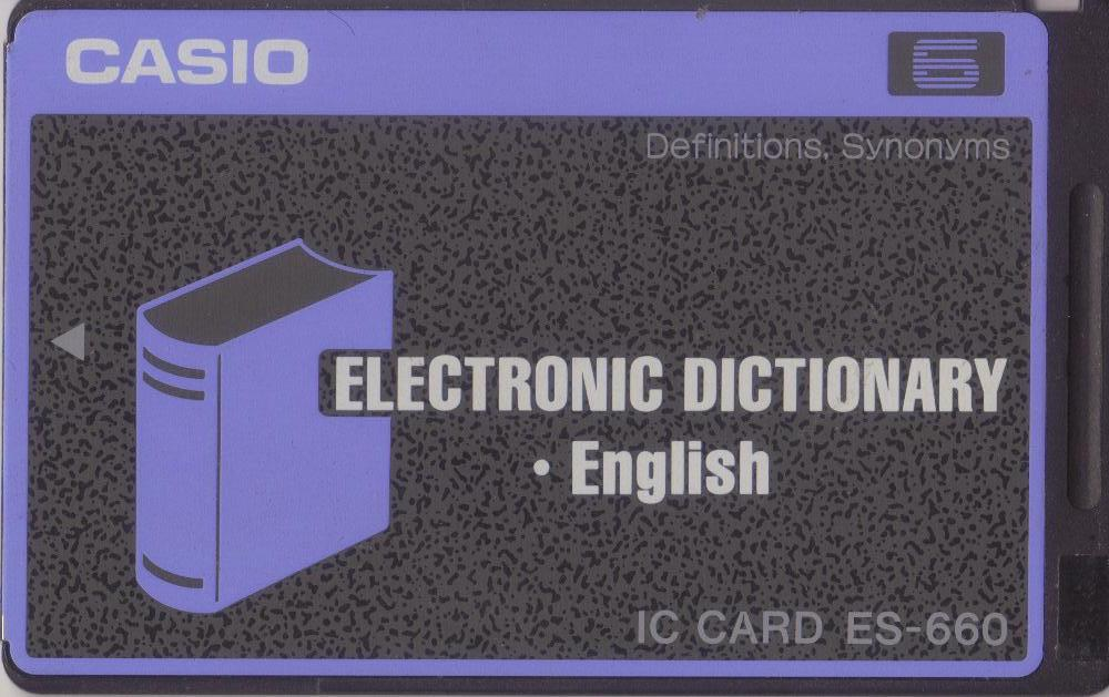 ES-660 — Electronic Dictionary (• English)