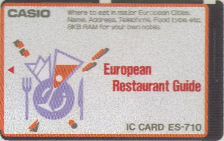ES-710 — European Restaurant Guide
