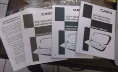 Spanish, French and English manuals